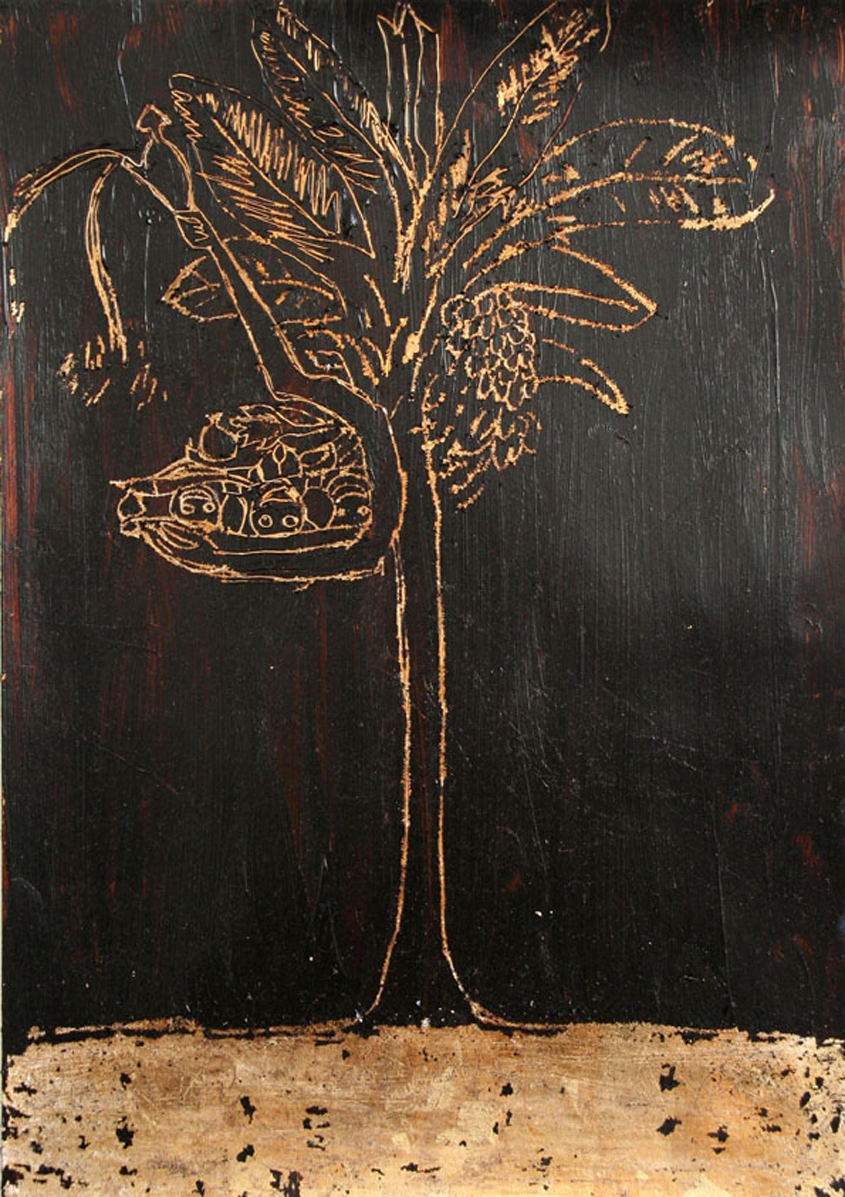 Tree of Life Öl, Gouache auf Blattgold, 29x21cm © Melody LaVerne Bettencourt 2010